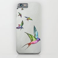 iPhone & iPod Case featuring Swallows in Flight by Lorri Leigh Art