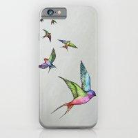 Swallows In Flight iPhone 6 Slim Case