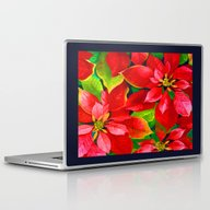 Christmas Poinsettia Laptop & iPad Skin