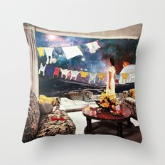 Room with an Almost View Throw Pillow