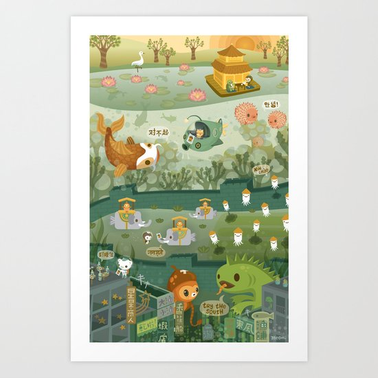 The Octonauts Explore The East Art Print By Meomi Society6