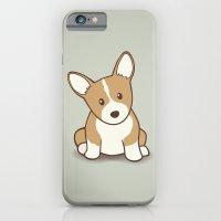 iPhone & iPod Case featuring Welsh Corgi Puppy Illustration by Li Kim Goh