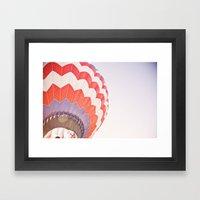 going up::denver Framed Art Print