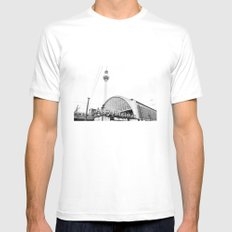 Berlin Alexandraplatz White SMALL Mens Fitted Tee