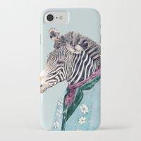 zebra iPhone & iPod Cases featuring Zebra by Animal Crew