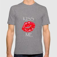 Kiss Mens Fitted Tee Tri-Grey SMALL