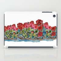 Red Geraniums painting iPad Case