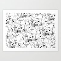 Drawing Collage Art Print
