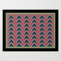 Rainbow Triangle Chevron Print Art Print