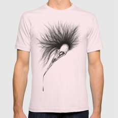 Bird Skull Mens Fitted Tee Light Pink SMALL
