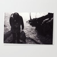 Canvas Print featuring Boy by the River by Jessica Gray
