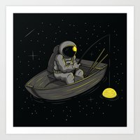 Lonely Fishing Art Print