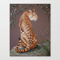 In The Stillness Of The Night  painting Canvas Print