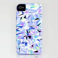 iPhone 4s & iPhone 4 Cases featuring Periwinkle Polygons by Jenny Mhairi