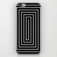 Black & White Spiral iPhone & iPod Skin