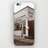 Neighborhood barber shop iPhone & iPod Skin