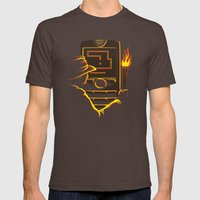 Why Did It Have To Be Snake? Mens Fitted Tee Brown SMALL