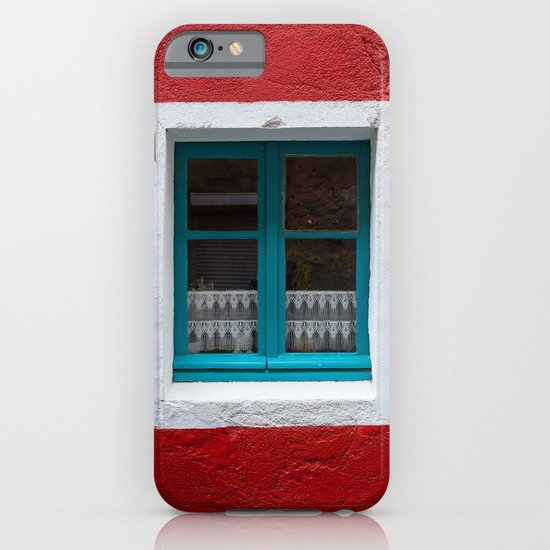The blue window and the red wall iPhone & iPod Case