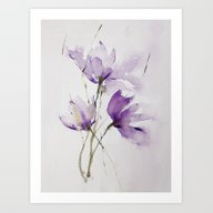 Wilted Tulips Art Print