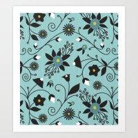 Folky Floral Art Print