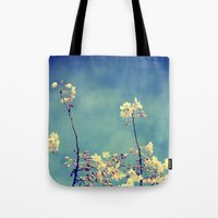 Blossoms On Blue Sky Tote Bag
