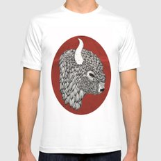 The Buffalo White SMALL Mens Fitted Tee