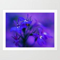 Blue & Purple Flowers Art Print