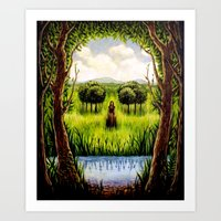 Beckoning From The Other… Art Print