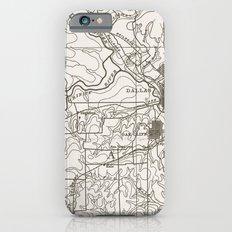 Dallas Map Slim Case iPhone 6s
