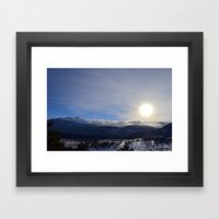 Rolling Clouds Over the Rockies Framed Art Print