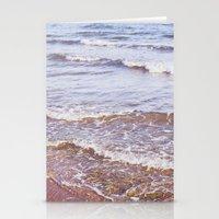 Retro Beach. Waves Stationery Cards