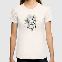 Feeding the birds Womens Fitted Tee Natural SMALL