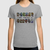 Final Fantasy II Charact… Womens Fitted Tee Athletic Grey SMALL