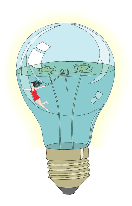 Life in a lightbulb. Day Art Print