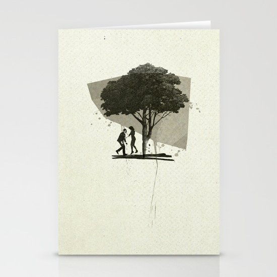 (Down By The) Family Tree | Collage Stationery Card