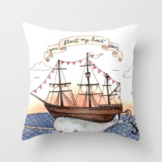 Float My Boat Throw Pillow