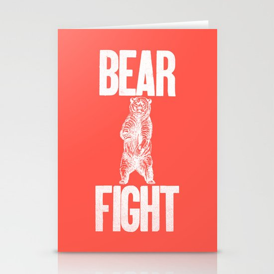 Bear Fight Stationery Card