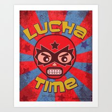 Lucha Time Art Print