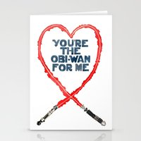 You're the Obi-Wan for Me Stationery Cards