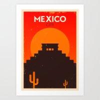 Vintage Mexico Poster Art Print