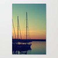Canvas Print featuring sea Puglia by Silvia Giacoletto