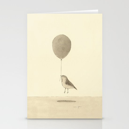 bird with a balloon Stationery Card