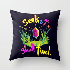 Legend of Zelda Seek and Ye Shall Find Throw Pillow
