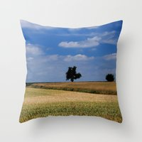 Wheat Field- JUSTART © Throw Pillow