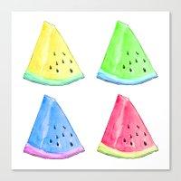 Watermelon Color Mix Canvas Print