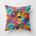 More Monsters, More Patterns Throw Pillow