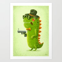 Dino Bandito Art Print