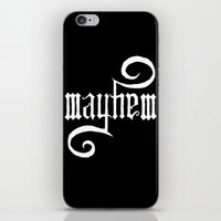 Unleash MAYHEM (Black) iPhone & iPod Skin
