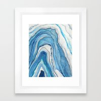 AGATE Inspired Watercolor Abstract 02 Framed Art Print