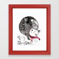Wishing you a Merry Christmas  Framed Art Print